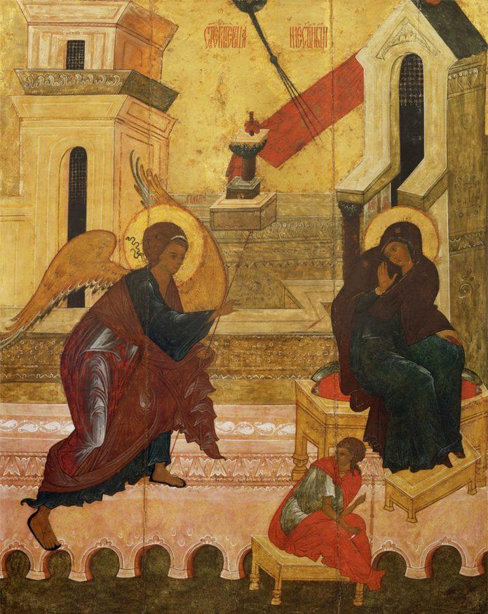Arhanghelul Gavriil aduce Buna Vestire Fecioarei Maria
