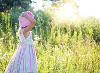 Minunate sunt lucrurile Tale, Doamne! Peisaj, natură, fetiță, rai, camp