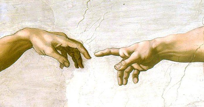 Crearea lui Adam, Capela Sixtina, Michaelangelo