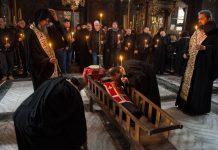 Înmormântare în Sfântul Munte Athos