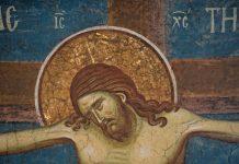 Răstignirea Domnului, frescă, Mănăstirea Decani, Serbia