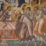 Împărtășirea Apostolilor, frescă,Sfintele Taine