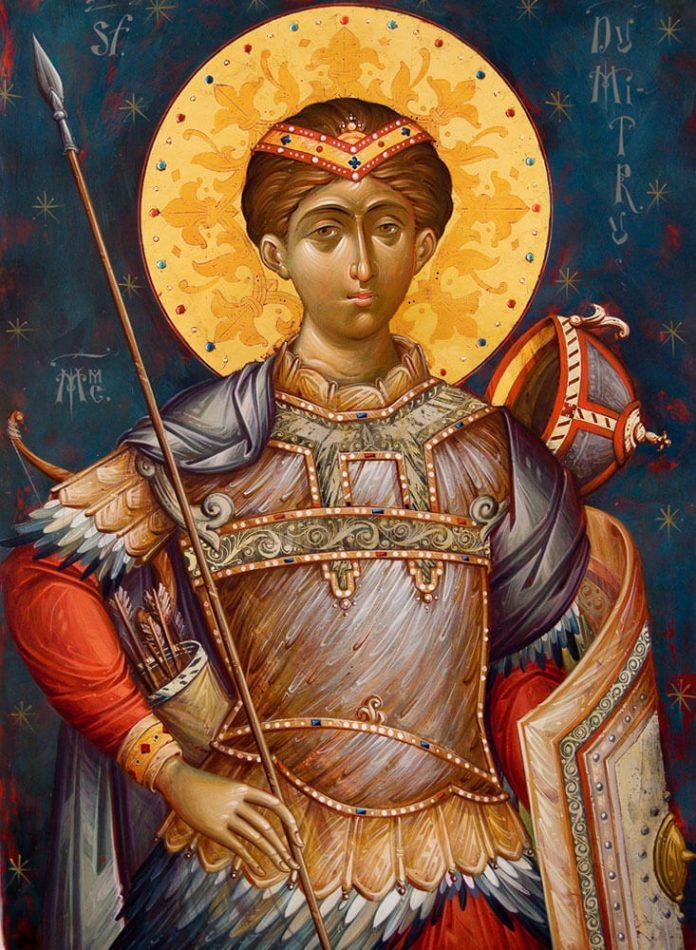 Sf. M. Mc. Dimitrie, Izvorâtorul de Mir, Tesalonic, 26 octombrie