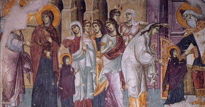 Intrarea Maicii Domnului în biserică, templu, 21 noiembrie