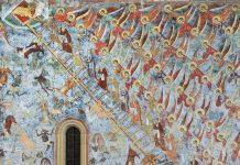 Scara raiului (Mănăstirea Sucevița), frescă, pictură exterioară, scara dumnezeiescului urcuș