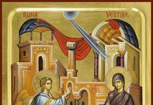 Arhanghelul Gavriil aduce Buna Vestire Fecioarei Maria, 25 martie