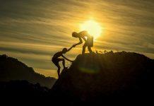munte, apus,soare,ajutor,unire,milă