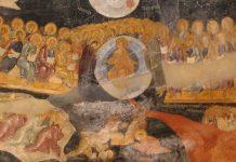 Duminica Înfricoșătoarei Judecăți, Triod, frescă, Judecată, Sfârșitul lumii, cumpănă, balanță, fapte bune, fapte rele