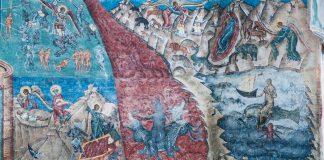 Înfricoșătoarea Judecată (Mănăsitrea Voroneț, detaliu), Bucovina, Ștefan cel Mare, Daniil Sihastru