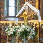 Răstignirea Domnului, altar,Putna,Mănăstire,România,Bucovina