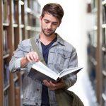 Student,biblioteca,studiu,carte,tânăr