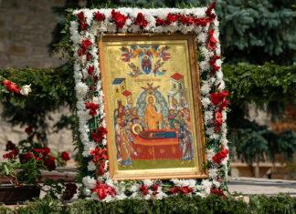 Adormirea Maicii Domnului, icoană, Putna, mănăstire, hram