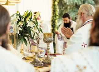 Sfintirea Darurilor Sf. Liturghie, Agneț, Sfântul Trup, Sfântul Sânge, epicleza, Putna, Arhim. Melchisedec
