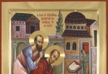 Sf. Ioan Gură de Aur și Sf. Ap. Pavel, tâlcuire, minune
