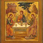 Sfânta Treime, icoană, Troița
