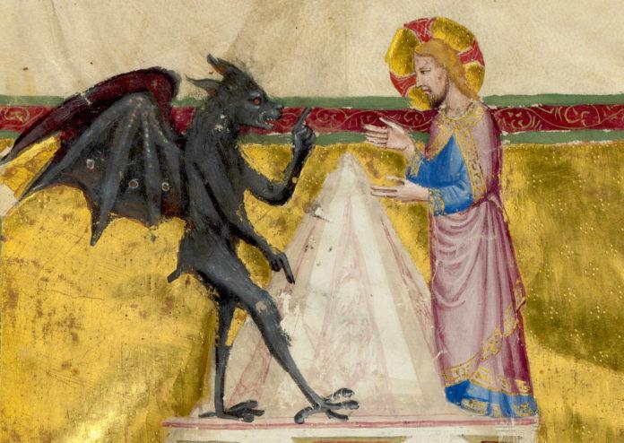 Ispitirea de pe muntele Carantaniei, diavolul, Mântuitorul Iisus Hristos