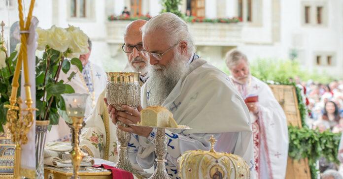 Sfintele Taine, Mănăstirea Putna, hram, potir, disc