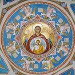 Maica Domnului - Oranta (frescă de Mihai și Gavril Moroșan, Mănăstirea Putna)