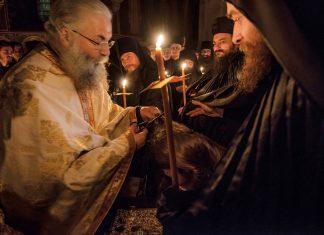 Tundere în monahism la Mănăstirea Putna, călugărie, depunerea voturilor monahale